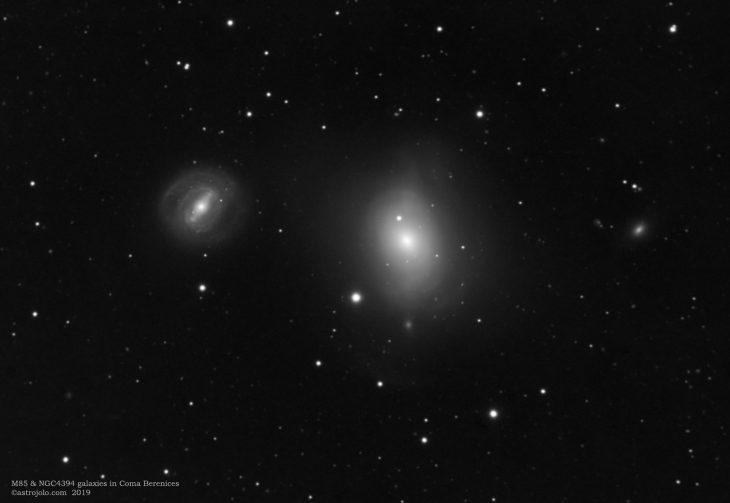 M85 & NGC4394 galaxies