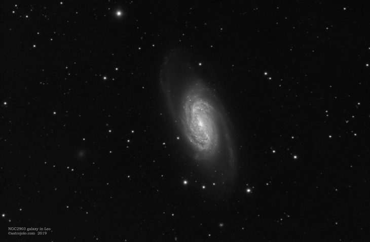 NGC2903 galaxy in Leo - luminance only