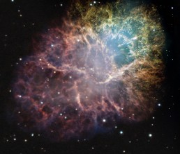 M1 Crab nebula expansion logo