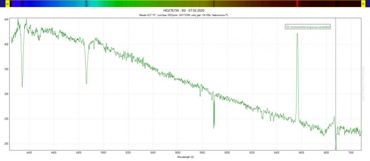 HD276738 spectrum