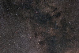 Sagitta and Vulpecula constellations widefield