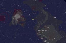 Cygnus fragment around Deneb and Sadr - Cartes du Ciel