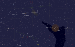 Arrow and Little Fox constellations - Cartes du Ciel