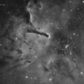 NGC6823 open cluster and Sh2-86 emission nebula in Vulpecula