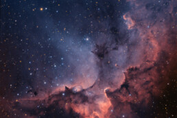 NGC7380 Wizard nebula narrowband and RGB