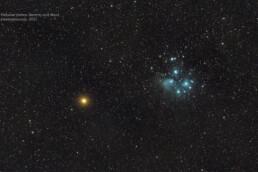 Pleiades and Mars